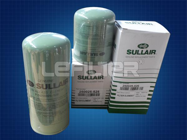 Elemento de filtro de óleo Sullair compr